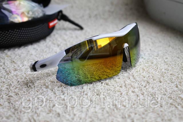 Велосипедные очки  White  с поляризационным покрытием