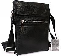 Кожаная сумка для аксессуаров черная Alvi av-95black