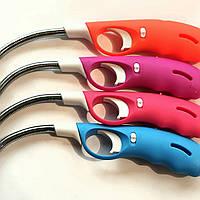 Зажигалка для газовой плиты с гнущимся носиков и защитой от детей, упаковка - 24 шт.