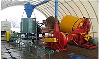 Линия по производству брикетов из соломы  производительностью 350…550 кг/ч