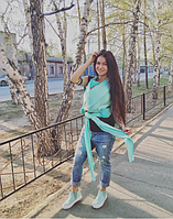 Слинг шарф трикотажный - Ментол