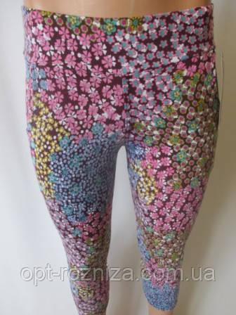Лосины с принтом в цветочки для ярких женщин