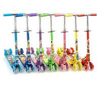 Четырехколесный самокат для девочки 3207/466-139, прочная конструкция, разные цвета