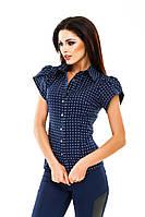 "Летняя женская рубашка ""Marine"" с коротким рукавом (4 цвета)"