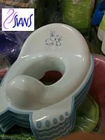 Накладка на унитаз антискользящая Зайцы Tega цвета белый и розовый 60524-60526