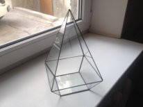Флорариум для цветов Пирамида пятигранная 170*270, фото 2