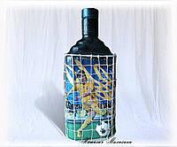Подарочное оформление бутылки Футбольному фанату Подарки на Украинскую тематику