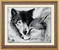 """Набор алмазной живописи """"Влюбленные волки"""""""