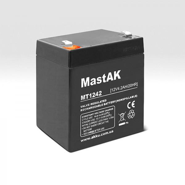 Мульти-гелиевый аккумулятор Mastak MT1242 12v/4,2Ah