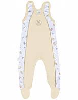 Ползунки унисекс:цвет -кремовый,размер-68 см,6 мес