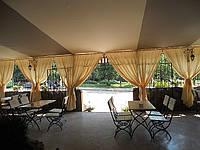 Потолок из ткани, шоры для летней площадки