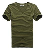 Мужская футболка  в стиле All Saints, хаки, фото 1