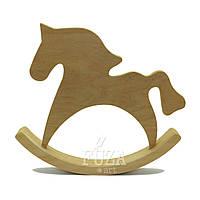 Игрушка деревянная, лошадка-качалка одинарная