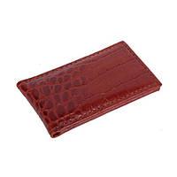 Зажим для денег мужской кожаный Vip Collection 002C croc