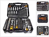 """Набор инструментов NEO Tools 08-671 1/2"""", 3/8"""", 1/4"""" 219 шт. + перчатки  97-606"""