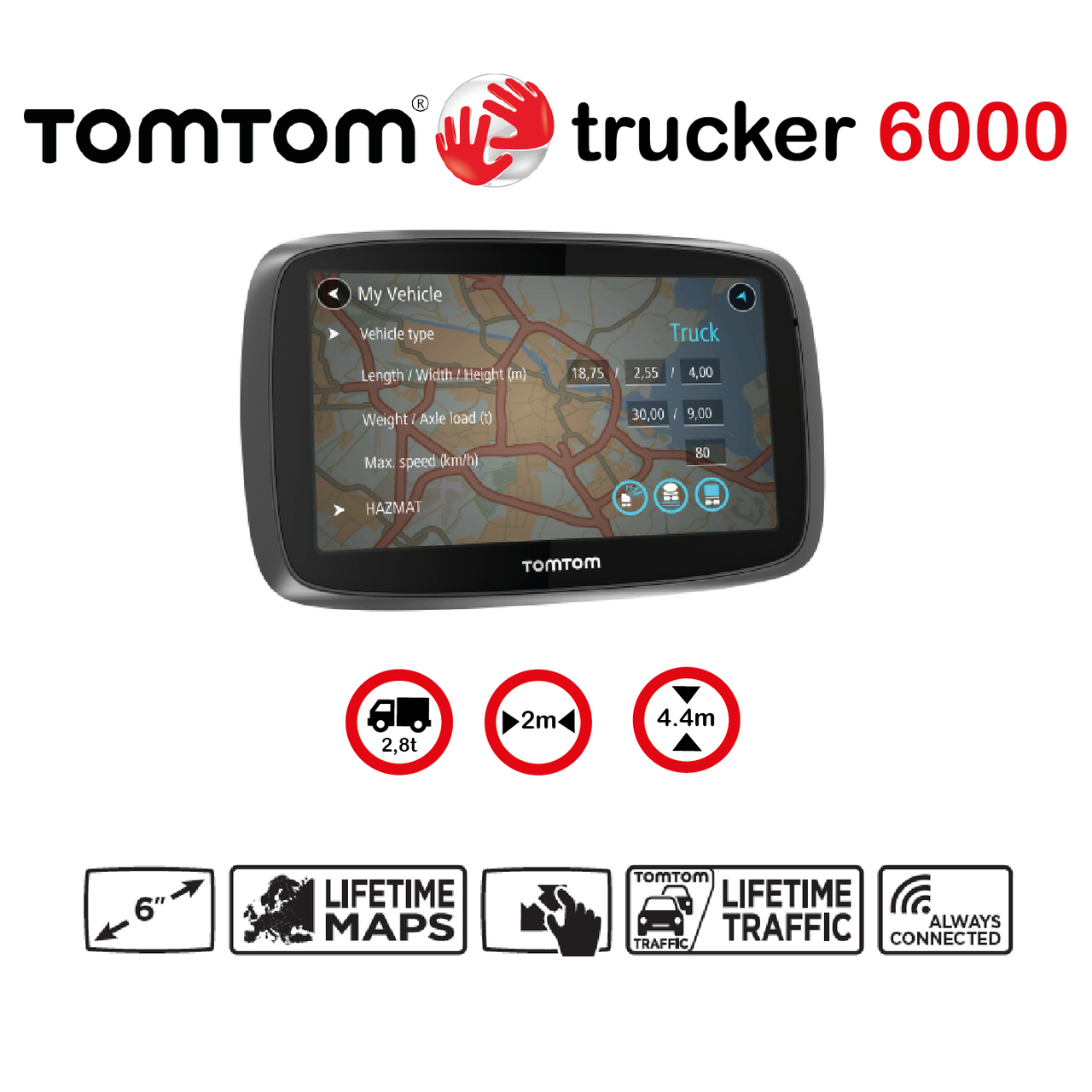 tomtom trucker 6000 gps led expert. Black Bedroom Furniture Sets. Home Design Ideas