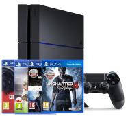 Sony PlayStation 4 (PS4) 1TB + 4 игры: Heavy Rain & Beyond / Two Souls Collection / DriveClub / FIFA 16