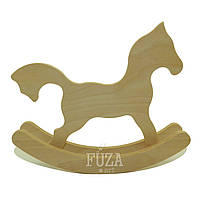 Игрушка деревянная, лошадка-качалка двойная