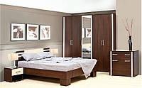 Спальня Элегия комплект 5Д лимбо шоколад + клен Світ Меблів