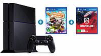 Игровая приставка Sony PlayStation 4 (PS4) 1TB + 3 игры