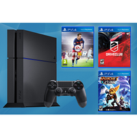 Sony PlayStation 4 (PS4) 1TB + 3 игры: Ratchet & Clank / DriveClub / FIFA