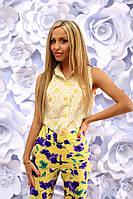 Костюм женский Летний с капри цвет жёлтый