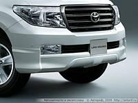 Спойлер переднего бампера OE Silver для  Toyota LC-200
