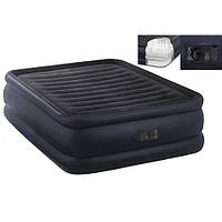 Велюровая кровать надувная прямоугольная Intex 64424