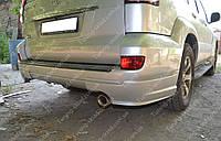 Клыки заднего бампера Тойота Прадо 120 (аэродинамические накладки Toyota Prado 120)