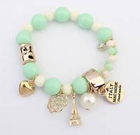 """Женский браслет в стиле Chanel """"Салатовый"""" , фото 1"""