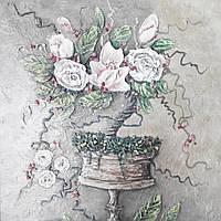 Барельеф Цветы ренессанс