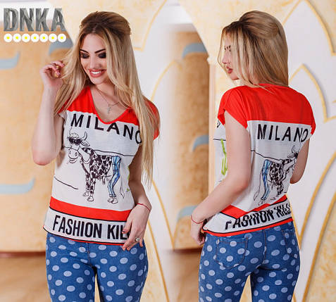 "Женская футболка ""Milano"", фото 2"