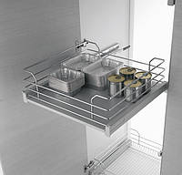 Inoxa Карго Gold 450мм корзина- ящик з дерев'яним дном 1201D/45-45
