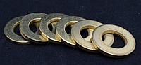 Шайба Ф16 ГОСТ 11371-78, DIN 125 плоская из латуни