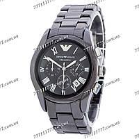 Часы мужские наручные Emporio Armani AR1400 Black-Silver