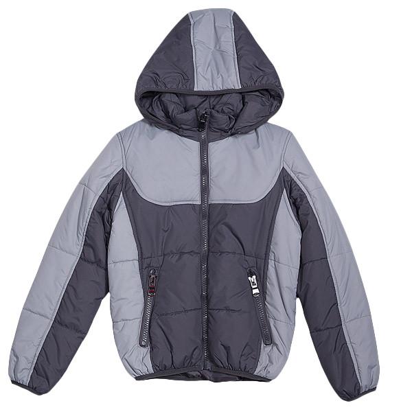 Осенняя куртка для мальчика с капюшоном