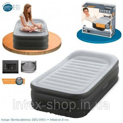 Кровать Twin Deluxe Pillow Rest, Intex 64432, фото 2