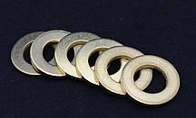 Шайба Ф6 ГОСТ 11371-78, DIN 125 плоская из латуни