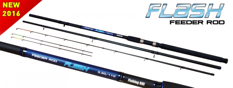 "Удилище Fishing ROI ""Flash"" Fiberglass Feeder Rod"