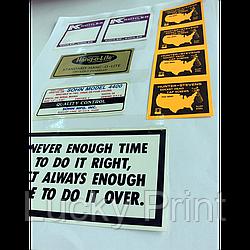 Бумажные наклейки под заказ