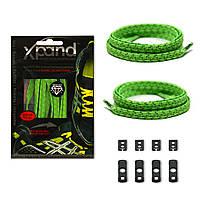 Шнурки эластичные светоотражающие XPANDⓇ NEON GREEN REFLECTIVE Неоновый зеленый