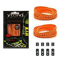 Шнурки эластичные светоотражающие XPANDⓇ NEON ORANGE REFLECTIVE Неоновый оранжевый