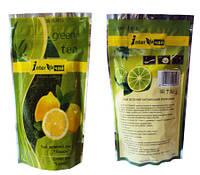 Лимон - зелёный ароматизированный чай 100 г