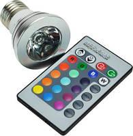 Светодиодная лампа Spot RGB E27 с пультом Код.52587