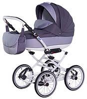 Прогулочная коляска Adamex Katrina Eco 651K Белая рама Серый лён