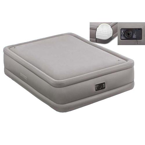 Велюровая кровать надувная прямоугольная Intex  64468