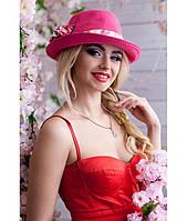 Женская летняя малиновая шляпа-федора, цвета в ассортименте