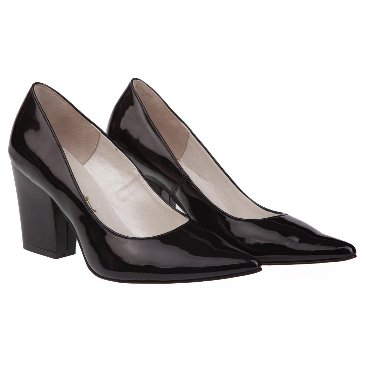cfad64c2a Туфли женские Asbut (черного цвета, модные, стильные, на удобном каблуке)