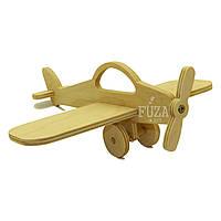 Игрушка самолетик деревянный с пропеллером