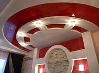 Изготовление фигурных потолков на заказ из гипсокартона любой сложности
